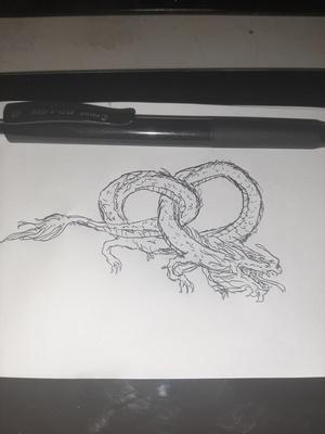 Pretzel dragon #sketchdaily 16/365