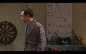 Posted on r/pics: Can anyone tell me what the graph/formulas on the whiteboard in the latest episode of The Big Bang Theory refer to?