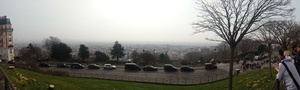 Panorama of the view from the Montmarte hill
