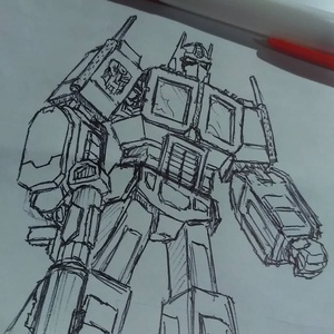 This sketch took just enough time for the meeting to finish #transformers