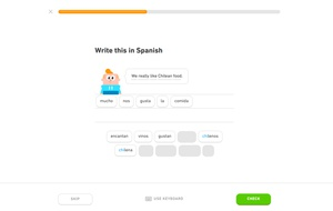 """I just noticed that @duolingo web has great keyboard support, even in this """"click to select words"""" mode. You can type to select words from the list, and enter/backspace work as you expect (embarrassingly, the answer I have in the above screenshot is already wrong lol) Unsurprisingly, the keyboard support doesn't work for Japanese mode"""