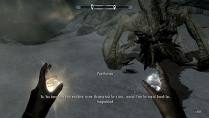 """(""""Late Game Review"""" because I'm trying to play through games on my ridiculously old backlog, so these games are pretty old) The Elder Scrolls V Skyrim came out on 11/11/2011. I remember I bought the game for Steam on launch day. I finally """"finished"""" it after 350 hours of gameplay and seven years real-time. """"Finished"""" in this case means """"achievement complete"""", not just """"main quest complete"""", because as any Bethesda gamer knows, that's not how their RPGs roll. I had been looking forward to this game because I had previously enjoyed both ES4: Oblivion and Fallout 3 on PS3 and"""