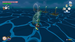Posted in MiiVerse's The Legend of Zelda: The Wind Waker HD: Every submarine you encounter on the ocean has a different set of rafts nearby, to make it easier for you to remember if you've already beaten that particular submarine