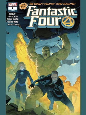 Fantastic Four (2018) #1 cover by Esad Ribic