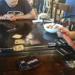 Nosferatu, a French game that's a bit like werewolf. Helpful French guy claims this game is not available in the Philippines