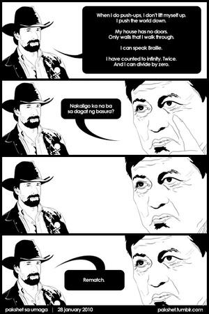 Manny Villar vs Chuck Norris