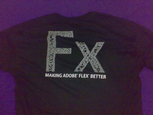 Free Flex T-Shirt from Adobe (my name is near the lower part of that F) Uploaded with the Flock Browser