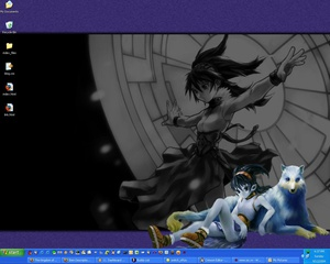 I was going through some old files today, I found this screenshot of my desktop from 2004: Actually, I still like that wallpaper. It's well-drawn. It's from RPGamer Theme Central. Items I had in the quick-launch toolbar: mIRC (for downloading comics) Thunderbird IE IE again (?!) I believe this is EditPad, a notepad replacement Chami.com HTML-Kit WinAmp Windows Media Player DivX Player No idea Shortcut to some folder Kazaa (pirate!) No idea 2xExplorer (Windows explorer alternative) Crimson Editor (so far there are at least 3 different text editors) Show Desktop Terminal Outlook (I never used this) Excel No idea Thunderbird