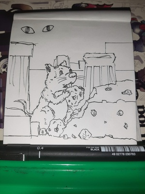 Inktober 2020 day 6: RODENT I didn't plan out this one, just started drawing. Official prompt list: https://inktober.com/rules