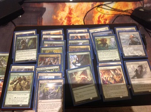 Gw allies deck i ran at #MTGBFZ prerelease, only went 1-2 (lol). Was considering the ub build shown as alternative