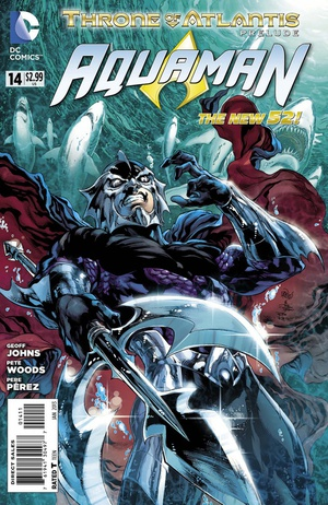 Aquaman #14 cover art by Joe Prado, Ivan Reis