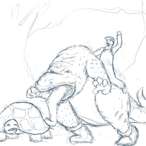 Draw a dinosaur day #sketchdaily