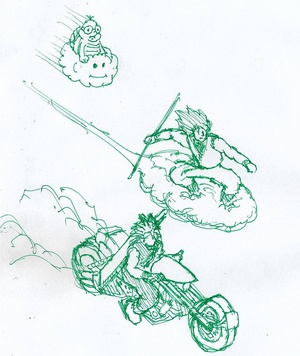 Cloud racing #sketchdaily