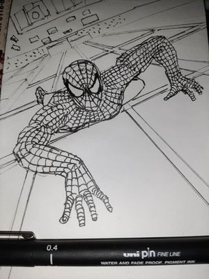 Inktober 2020 day 31: CRAWL I always put far too many webs on that costume. Also, I managed to crawl my way through all of #inktober2020 without missing a day, go me! Official prompt list: https://inktober.com/rules