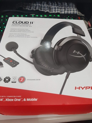 I ordered this HyperX Cloud II Gaming Headset off Lazada on the first day of MECQ. It's a bit expensive. Delivery came in Saturday morning, so around a week, not too bad. I'm actually not super-picky when it comes to audio issues, but lately the 3.5mm audio jack on my Razer keyboard has been giving off static. I couldn't move my speaker connectors to the back of the desktop tower case because I often switch them out for earphones (when I'm doing voice chat or streaming on Twitch for example), and it's inconvenient to do so when they're so far
