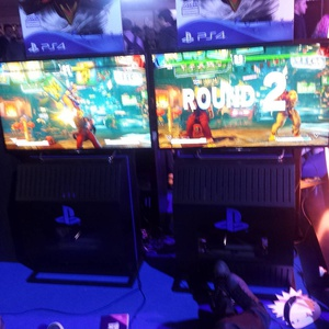 Waiting to give sfv a whirl #egx