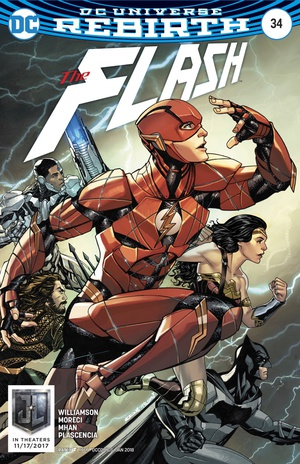 Flash (Rebirth) #34 Justice League movie variant cover by McKone and Fajardo