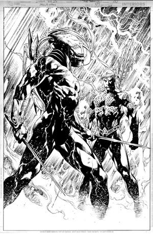 travisellisor: page 20 from Aquaman (2011) #9 by Ivan Reis, Joe Prado, Rod Reis, Geoff Johns and Nick J. Napolitano