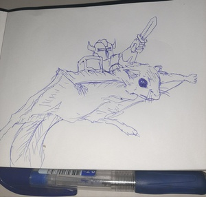 Flying squirrel knight #sketchdaily 45/365