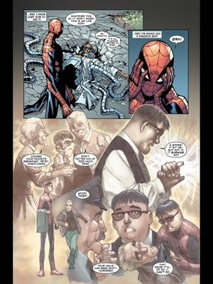 Otto learns what it means to be Spider-man. Amazing Spider-man #700 by Dan Slott and Humberto Ramos