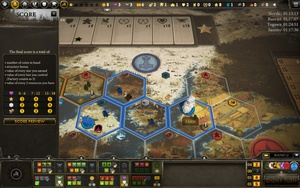 Over the past couple of years, I've been regularly playing digital boardgames online on Steam with one of my friend groups, I thought I'd do reviews of them. My second review is about Scythe: Digital Edition. Scythe is a competitive game where you play one of seven factions in an alternate history post-war Eastern Europe. Players vie to control territories, hire workers, build mechs, accumulate resources, accomplish secret objectives, and other such goals. Accomplishing secret objectives, winning combats or maximizing one of the several metrics (workers, money, popularity, military power, recruits, structures, mechs, etc) earns you stars, and the game