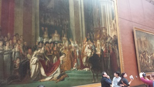 The Coronation of Napoleon ended the first audioguide tour we had decided to follow. The painting is huge and there were lots of details to take in