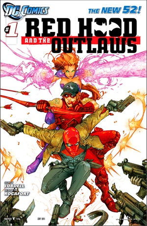 Red Hood and the Outlaws (New 52) #1 cover art by Kenneth Rocafort