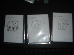 Fear the elephants! These are the elephant tokens I used for the Glare deck in constructed tournaments.
