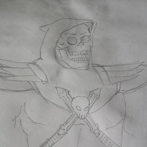 Just a quick skeletor today #sketchdaily actually I was just drawing a skull then got bored...