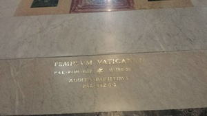 This was the inscription on the floor of the entrance to St. Peter's Basilica