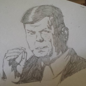 Cigarette smoking man #sketchdaily