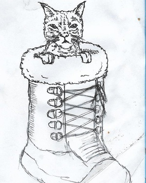 Puss in boot #sketchdaily