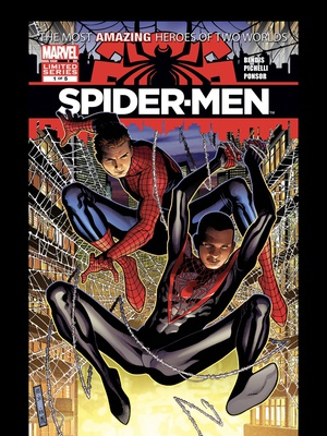 Spider-Men #1 cover by Jim Cheung