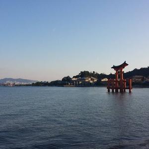 The tori gate on miyajima island