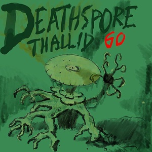 "#sketchdaily nov 2 prompt: album covers. This is a fictional album cover for my Rock Band 2 band ""Deathspore Thallid GO"" #mtg"