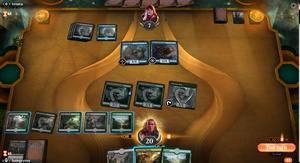 Posted on r/MagicArena: What is the little crown icon with the number 3 on the pteramander?