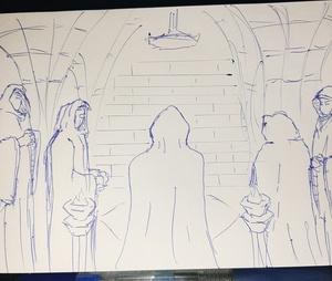 Clandestine meeting #sketchdaily 47/365