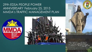 I'm already stressed RT @MMDA: Traffic Management Plan for the 29th EDSA People Power Anniversary, February 25, 2015.