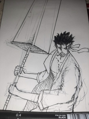 Inktober 2020 day 5: BLADE A bit late, and also quite messy. Official prompt list: https://inktober.com/rules