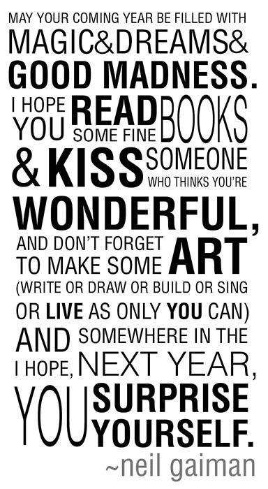 A new year's wish from Neil Gaiman