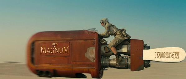 Some outrageous product placement in the new Star Wars film....