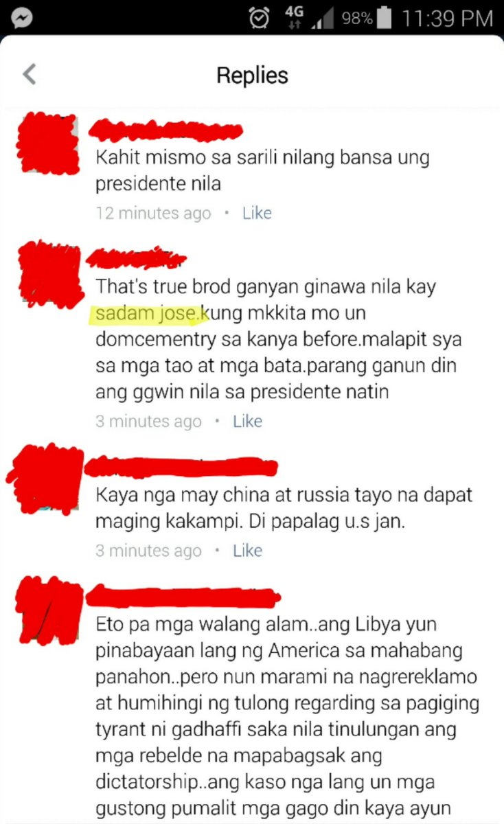 Reading comments on news article about Duterte saying US undermining PHL/manipulating peso depreciation when I see: SADAM JOSE.