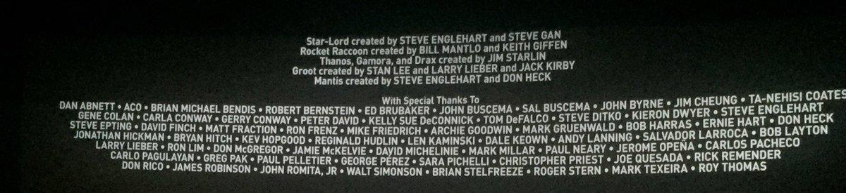 Avengers : Endgame special thanks