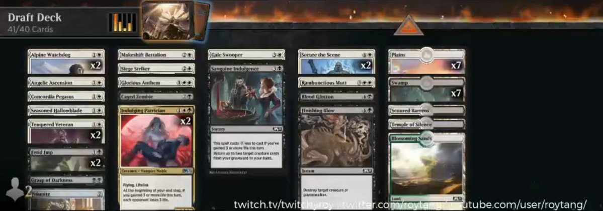 M21 draft Episode 2 https://www.twitch.tv/twitchyroy #mtg #magicarena #m21 Draft deck was fine, games were terrible; lots of misplays. Last chance tomorrow to rank up before rollover! YT: https://www.youtube.com/watch?v=clajhTE3Q-M