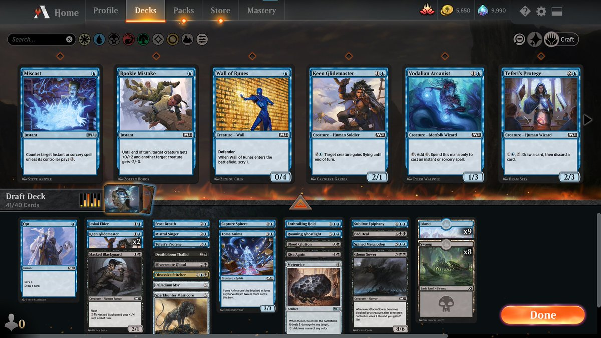 M21 draft Episode 3 https://www.twitch.tv/twitchyroy #mtg #magicarena #m21 #twitch Had to do 3 drafts just to jump from Gold 1 to Platinum lol. 1 draft was terrible, 2 were mediocre. 3rd draft was a WG deck (no screenshot here). At least I finally got to try some archetypes other than WB! YT: https://www.youtube.com/watch?v=q5Q6LfipbRo