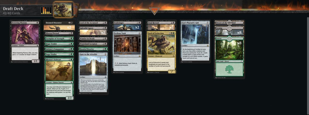 Friday evening Amonkhet Remastered draft (ep7) https://www.twitch.tv/twitchyroy #mtg #magicarena #twitch #mtgakr Ugh, that was terrible. Worst draft of this series by far. YT: https://www.youtube.com/watch?v=WWUAYmyZ61s Attaching draft deck screenshot: