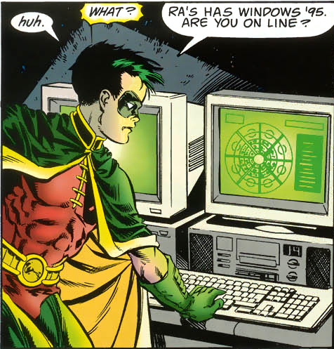 Batman's enemies use only the most modern software