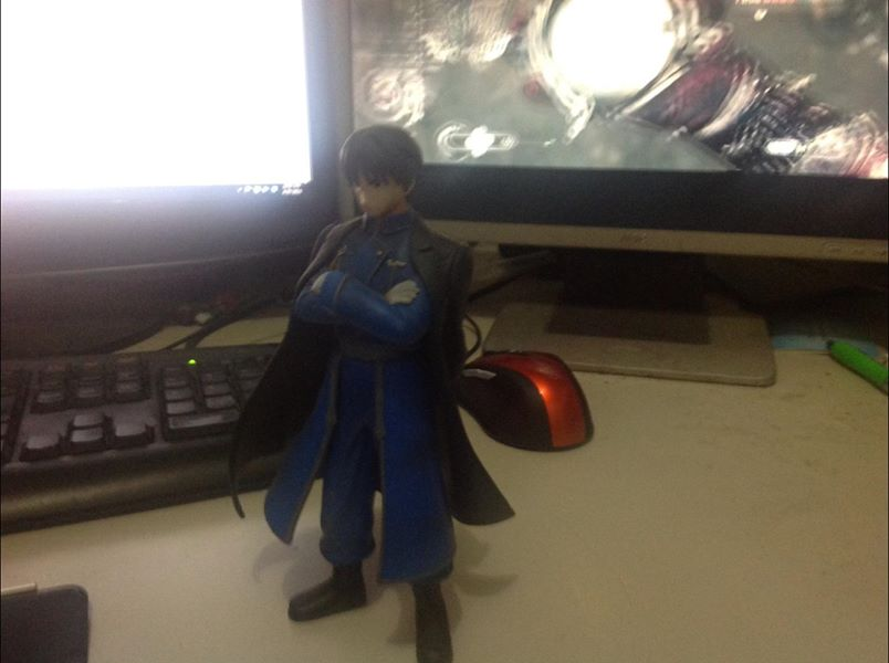 This is a figurine of one of my favorite anime characters Roy Mustang, I'm a bit fond of it. But because I'm a terrible person with a bad memory, I don't remember who gave it to me (I seem to recall it was an exchange gift type of deal). Will the terrific person who gave it to me please raise their hand so I can say thanks again?