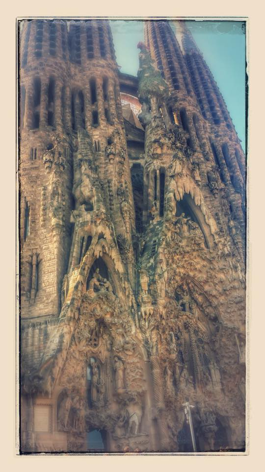 "Sagrada Familia. This pic was ""enhanced"" by Google+"