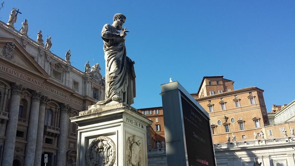 St. Peter telling off a bird